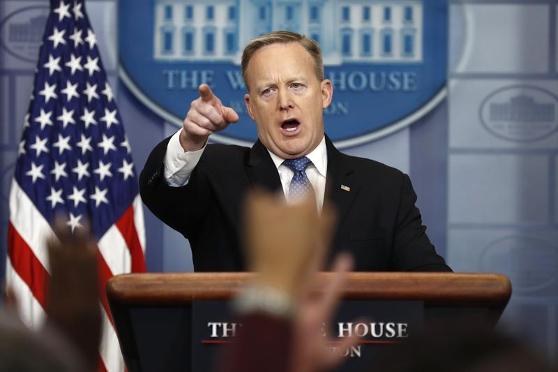 White House Press Secretary Sean Spicer has developed a reputation for yelling at reporters.
