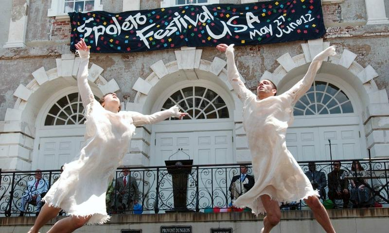 The 2005 opening ceremony of the Spoleto Festival in Charleston, South Carolina