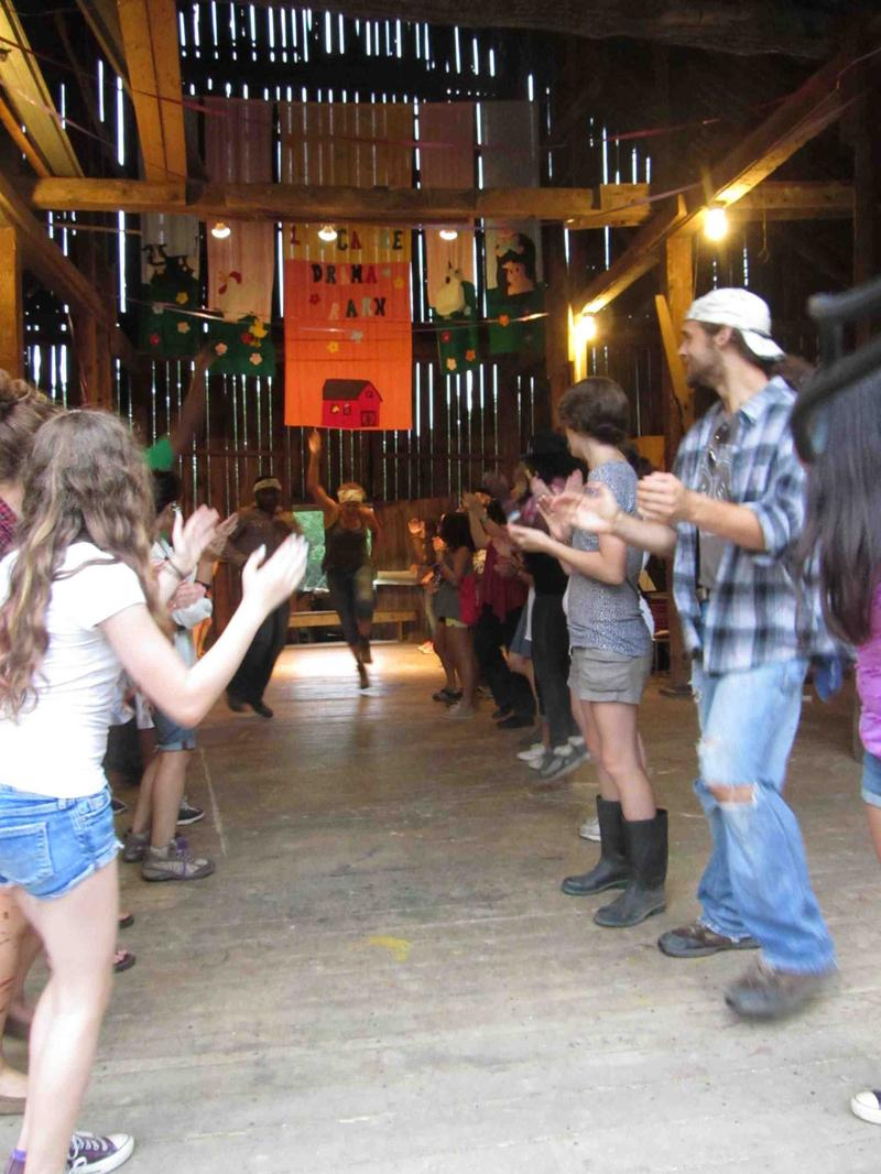 Square dance at the Longacre Camp