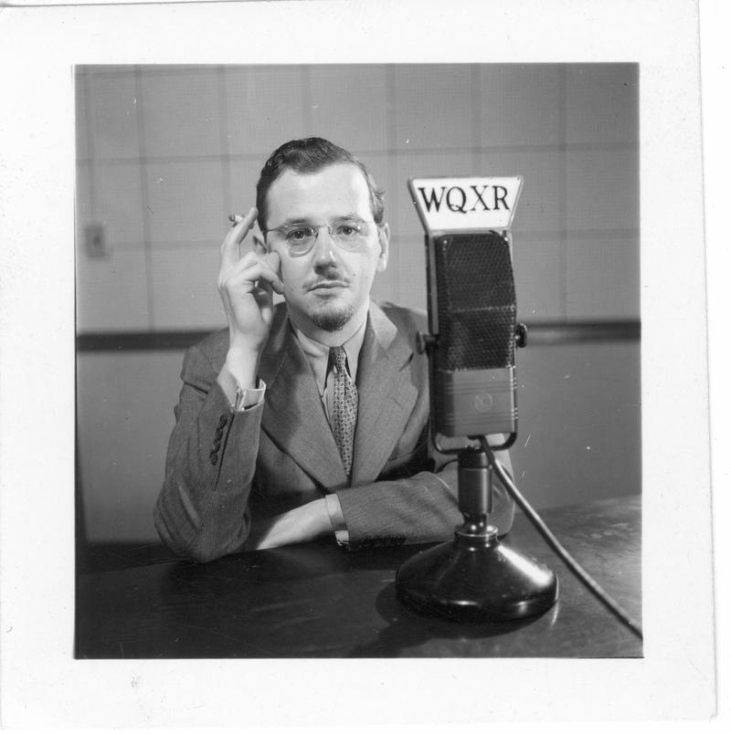 WQXR announcer Philip Stahl in May, 1942.