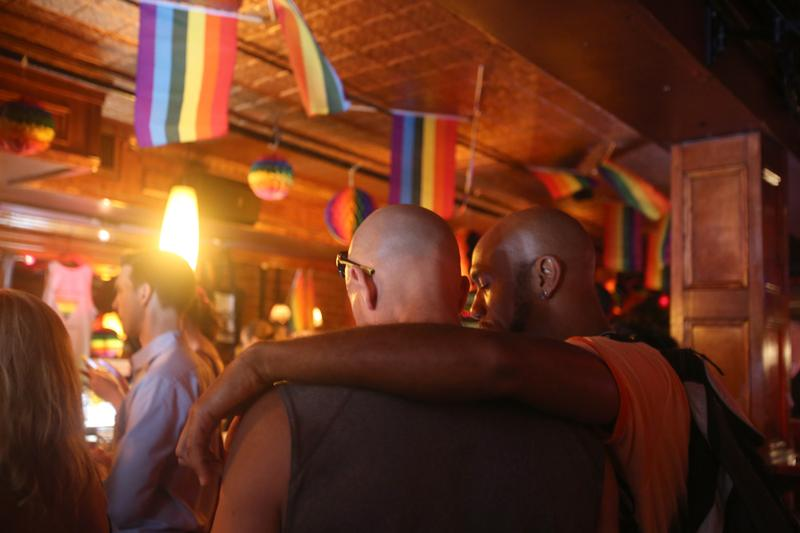 Celebrating the DOMA decision at the Stonewall Inn