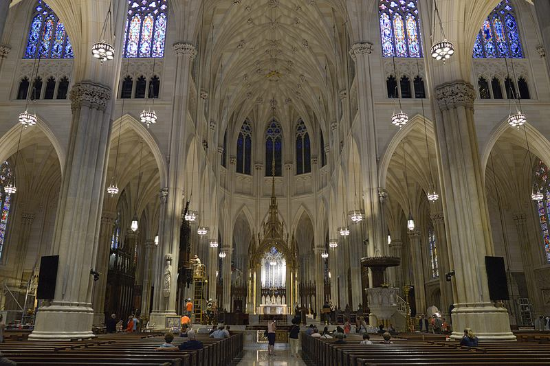 Inside the newly restored St. Patrick's Cathedral