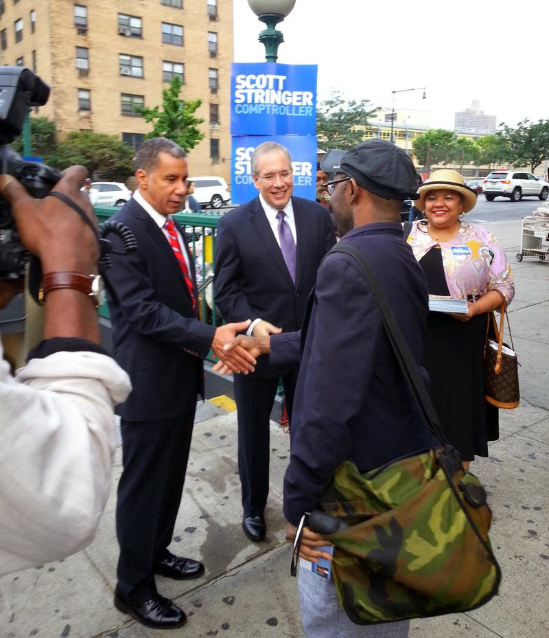 Scott Stringer and David Paterson in Harlem