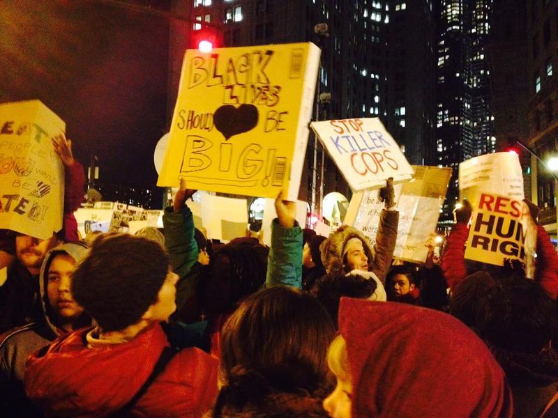 Demonstrators Against Police Brutality in Lower Manhattan