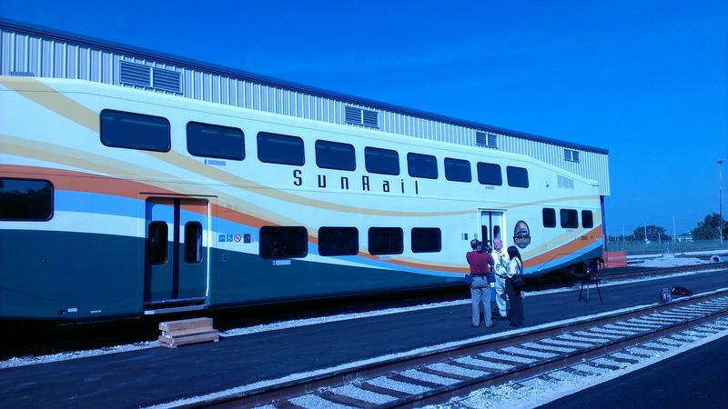 Sunrail passenger cars ge ready to roll in Central Florida. Launch date is mid-2014