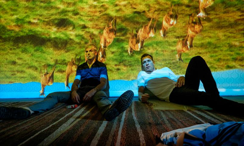 "Jonny Lee Miller and Ewan McGregor in ""T2 Trainspotting"""