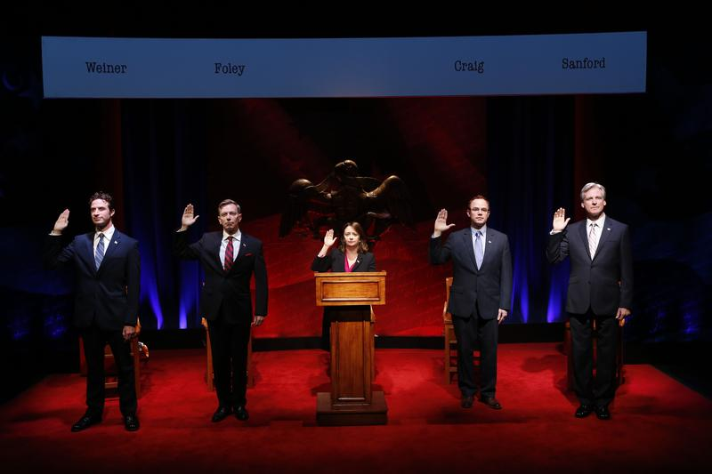 Nate Smith, Arnie Burton, Rachel Dratch, Sean Dugan and Tom Galantich in 'Tail! Spin!'