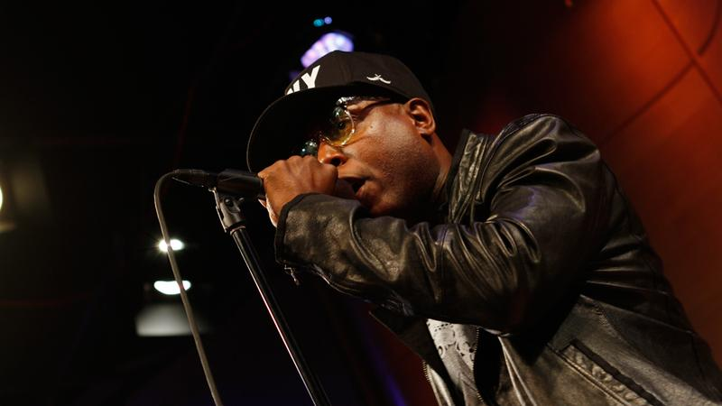 Brooklyn rapper Talib Kweli performs live on Soundcheck in the Greene Space at WNYC.