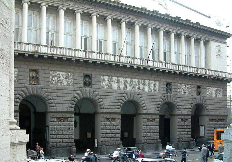 The Real Teatro di San Carlo in Naples, Italy.