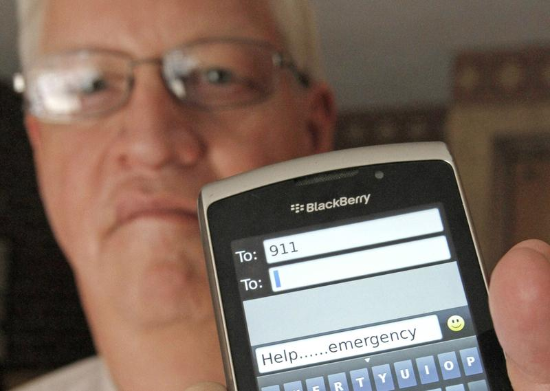 Some Vermont residents are now able to text emergencies to 911. Pictured here: David Tucker, executive director of Vermont's Enhanced 911 Board.
