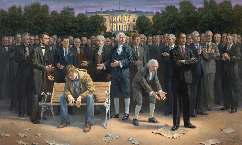 """The Forgotten Man,"" a painting by Jon McNaughton"