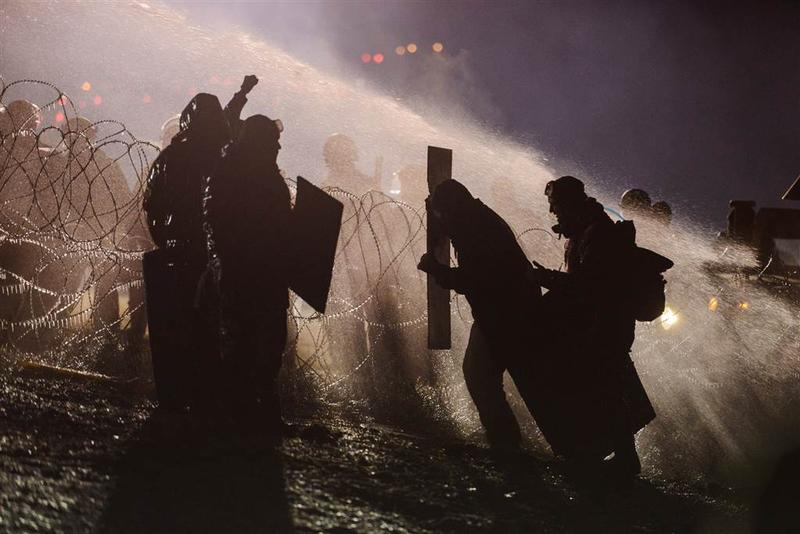 A photo from the protests at the Dakota Access Pipeline, Nov. 20, 2016. Photographer Stephanie Keith chose this as her top photo of the year.