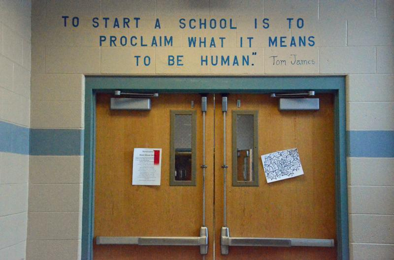 The hallway in an Expeditionary Learning school in Springfield, MA.