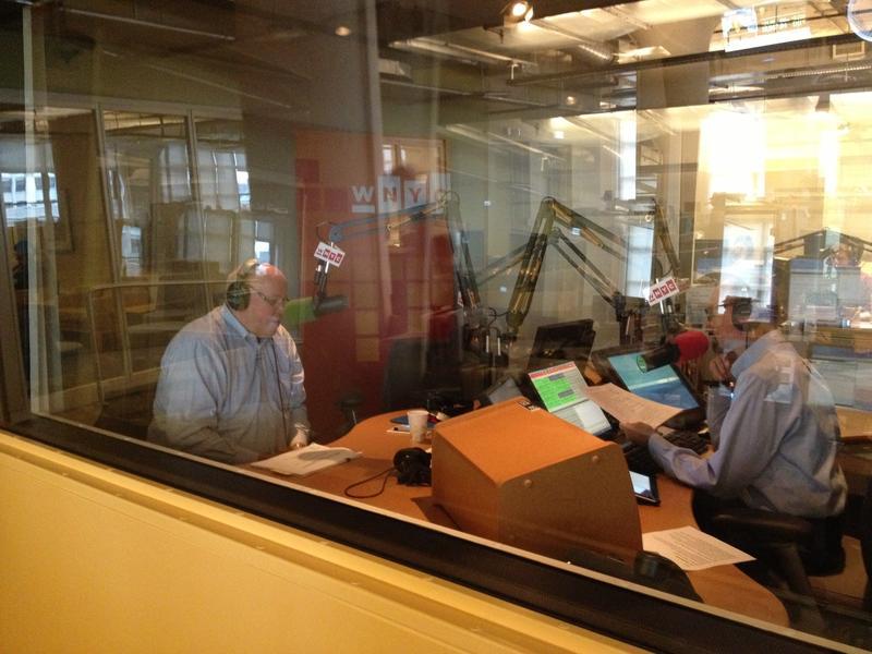 MTA head Tom Prendergast (L) talking to WNYC's Brian Lehrer