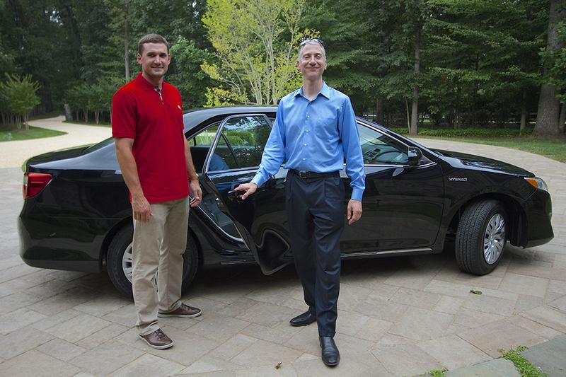 The promotional first rider of UberX in D.C. was Nationals third baseman Ryan Zimmerman.