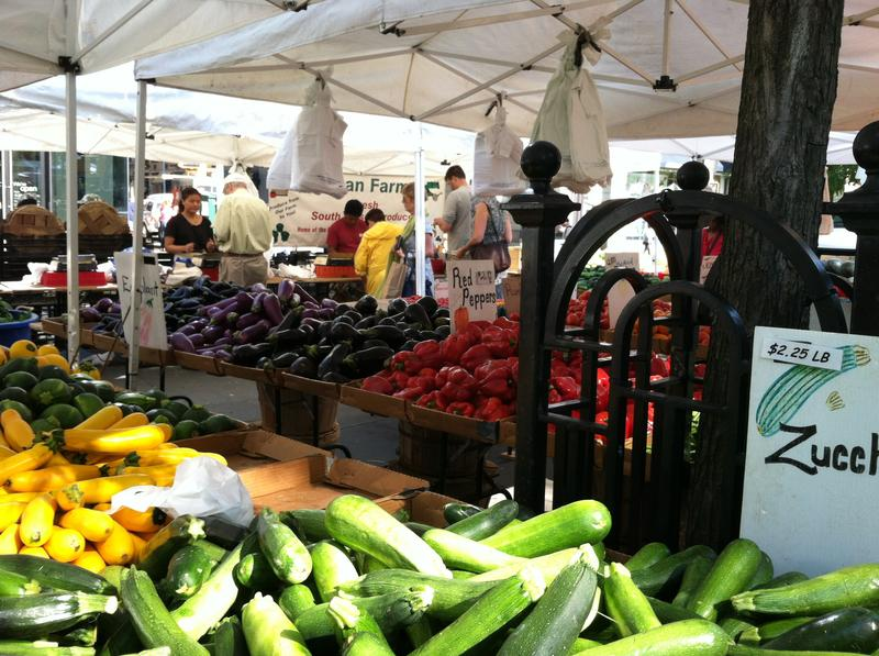 Vegetables for sale at the Union Square Farmers Market