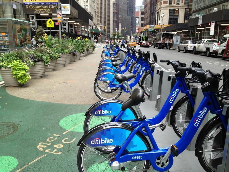 Color wars: one author dislikes bike share blue.