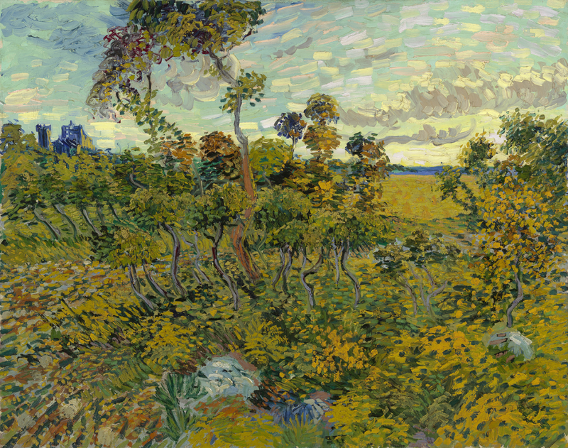 Vincent van Gogh, <em>Sunset at Montmajour</em>, 1888
