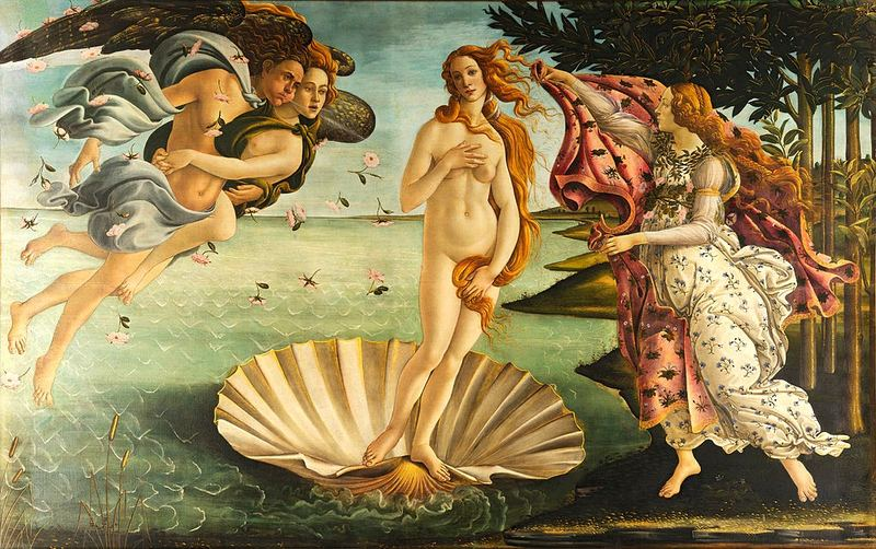 A painting of the goddess Venus, thought to be based in part on the Venus de' Medici, an ancient Greek marble sculpture of Aphrodite.