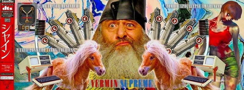"Campaign image posted by Vermin Supreme. Original photo caption reads: ""VERMIN SUPREME 2016. NOW, MORE THAN LAST TIME."""