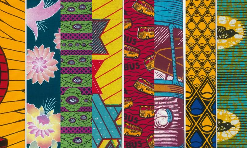 A range of fabric patterns from the Dutch company Vlisco