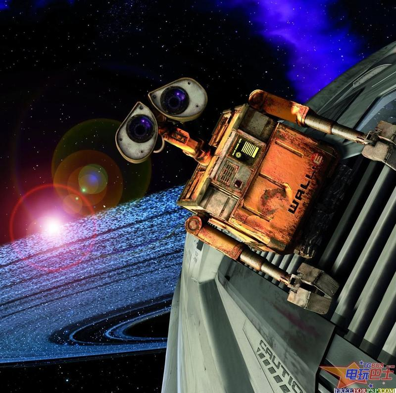 WALL-E blasts off into space in search of EVE (Extra-terrestrial Vegetation Evaluator), the robot of his dreams.