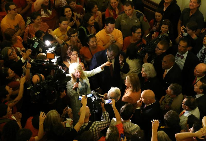 Senator Wendy Davis garnered national attention after an 11-hour filibuster helped defeat, temporarily, a controversial anti-abortion bill in Texas.