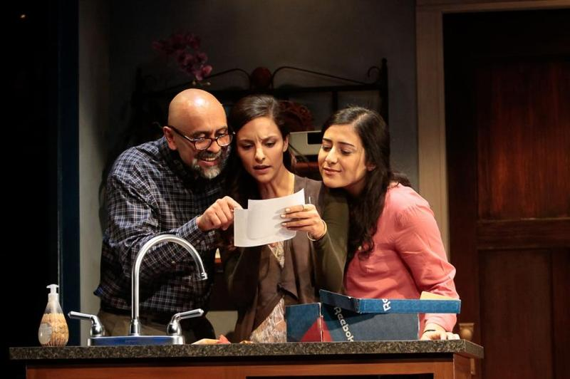 Bernard White, Tala Ashe and Nadine Malouf in Ayad Akhtar's 'The Who & The What.'