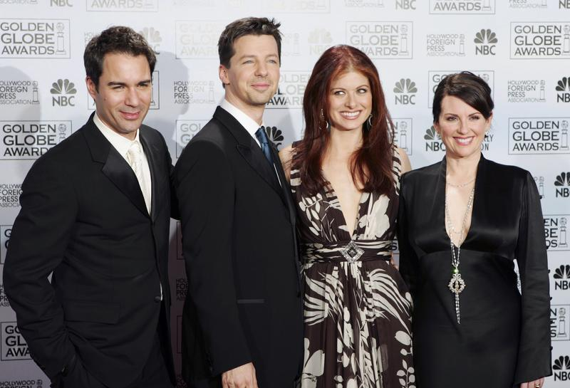 "Cast members from the comedy series ""Will & Grace,"" from left, Eric McCormack, Sean Hayes, Debra Messing and Megan Mullally, at the 63rd Annual Golden Awards on Monday, Jan. 16, 2006, in CA."