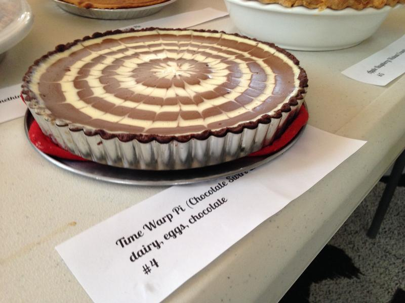 "The 2013 WNYC Pie Throw-Down Winner: The ""Time Warp"" Chocolate-Swirled Cheesecake Pie with Cocoa Crust, by Liora Noam-Kravitz"