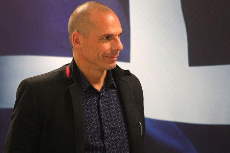 Former Greek Finance Minister Yanis Varoufakis attends a handover ceremony in Athens on January 28, 2015.