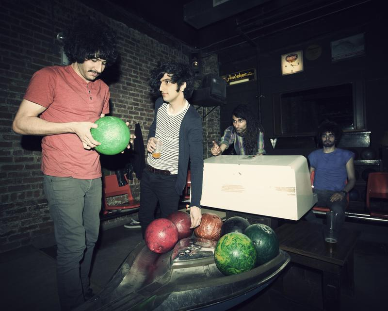 The Yellow Dogs at The Gutter in Brooklyn. From left to right: Soroush Farazmand, Koory Mirzeai, Siavash 'Obash' Karampour and Arash Farazmand.
