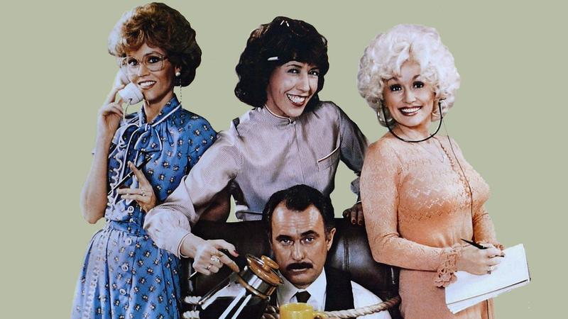 Jane Fonda, Lily Tomlin, Dolly Parton, and Dabney Coleman in 9 to 5 (1980)