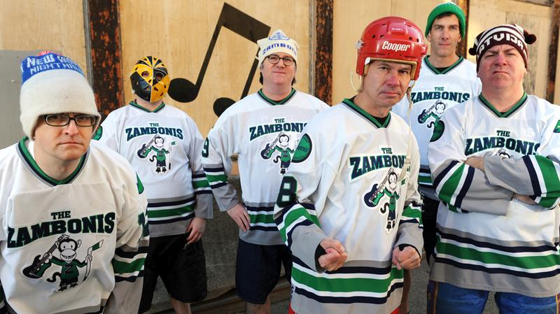 The Zambonis' latest all-hockey-themed album is 'Five Minute Major (In D-Minor).'