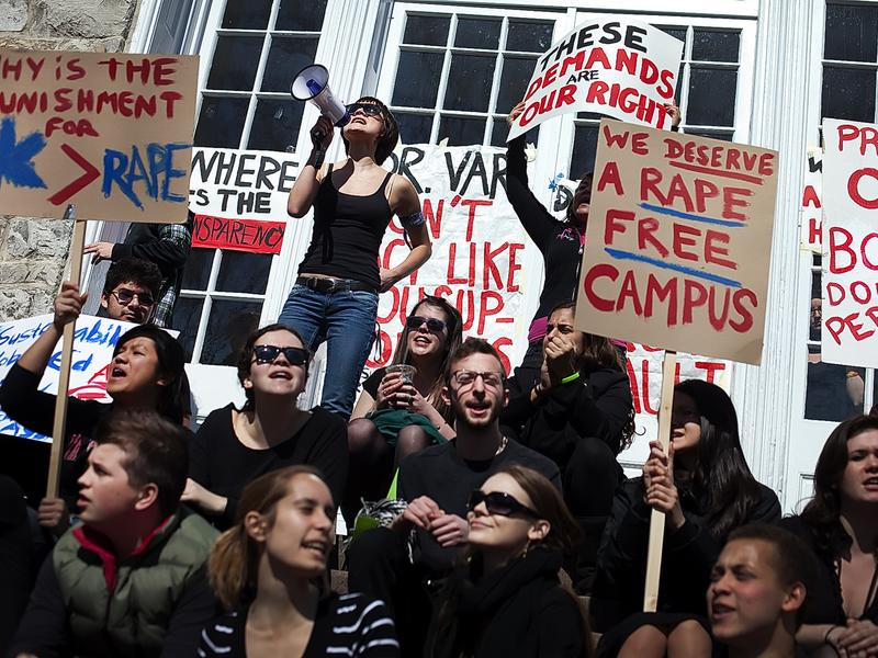 Dickinson College students protest against sexual assault on campus in 2011.