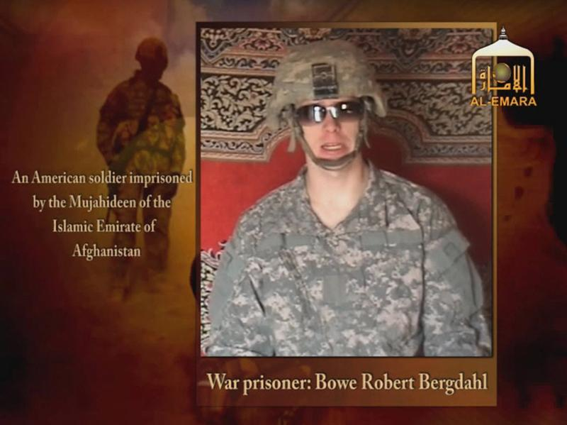 Bowe Bergdahl, seen on a Taliban-affiliated website sometime after his capture by Taliban militants in 2009.
