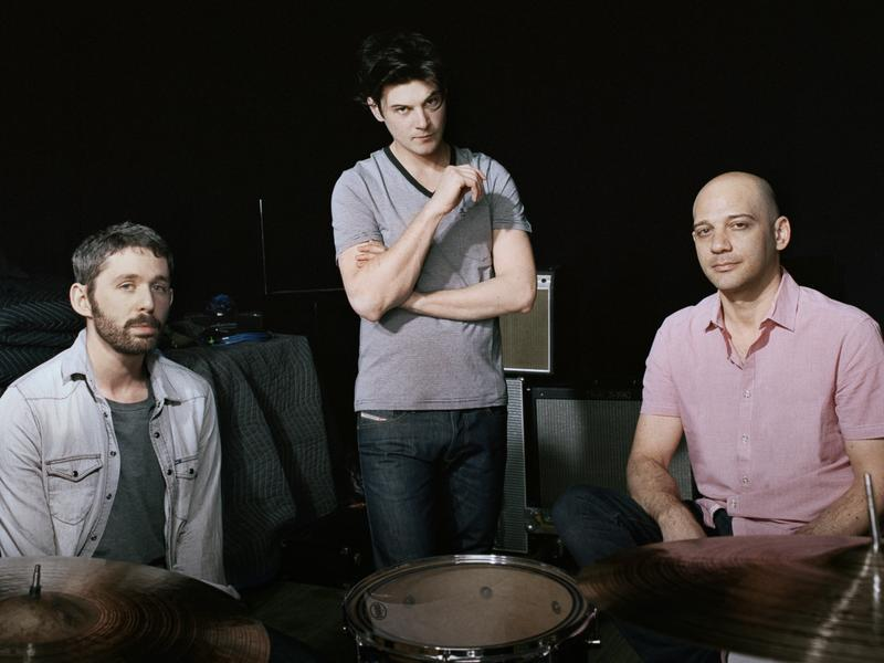 The Antlers (from left): Peter Silberman, Darby Cicci and Michael Lerner.