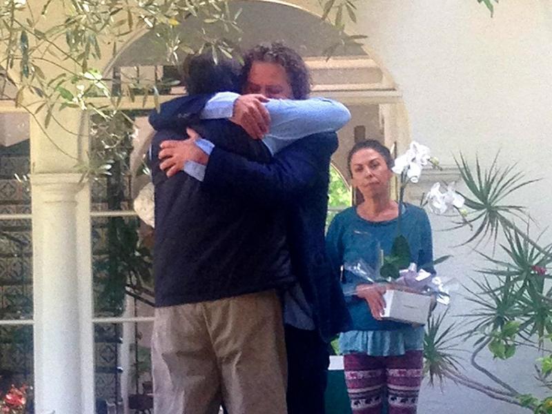 Richard Martinez and Peter Rodger meet in Santa Barbara on June 1.