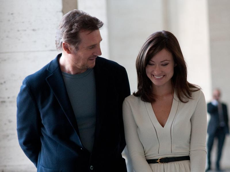 Liam Neeson and Olivia Wilde in Paul Haggis' <em>Third Person</em>.