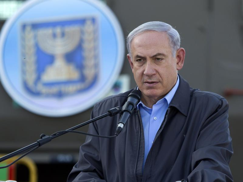 Israeli Prime Minister Benjamin Netanyahu adresses Israeli army troops on June 19.