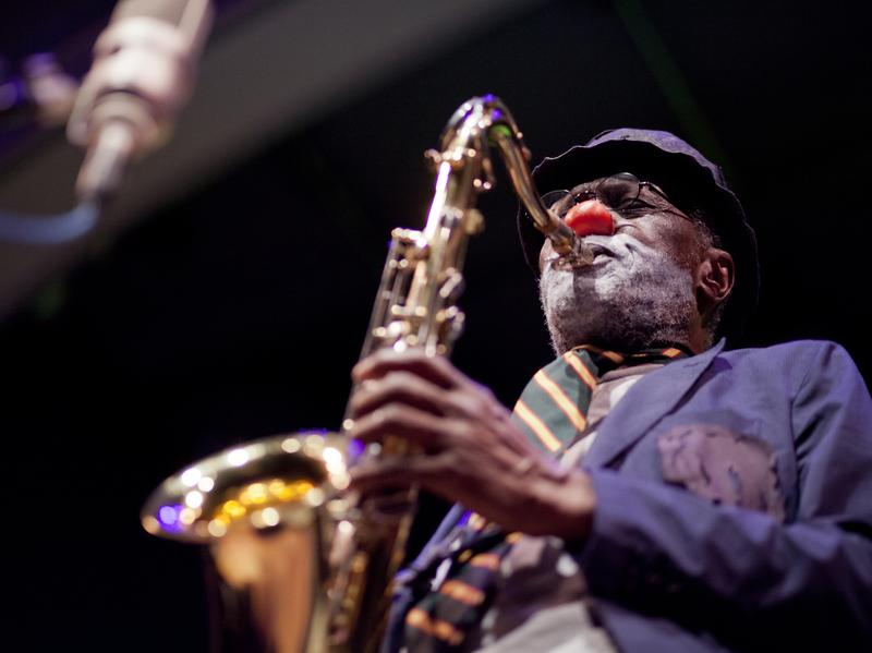 Charles Gayle was honored with a lifetime achievement award at this year's Vision Festival. On the event's opening night, Gayle performed as his alter ego, Streets the Clown.