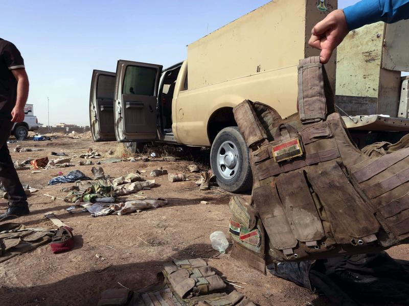 The Iraqi army left behind equipment, including body armor and vehicles, as Sunni militants overran the northern city of Mosul earlier this month.