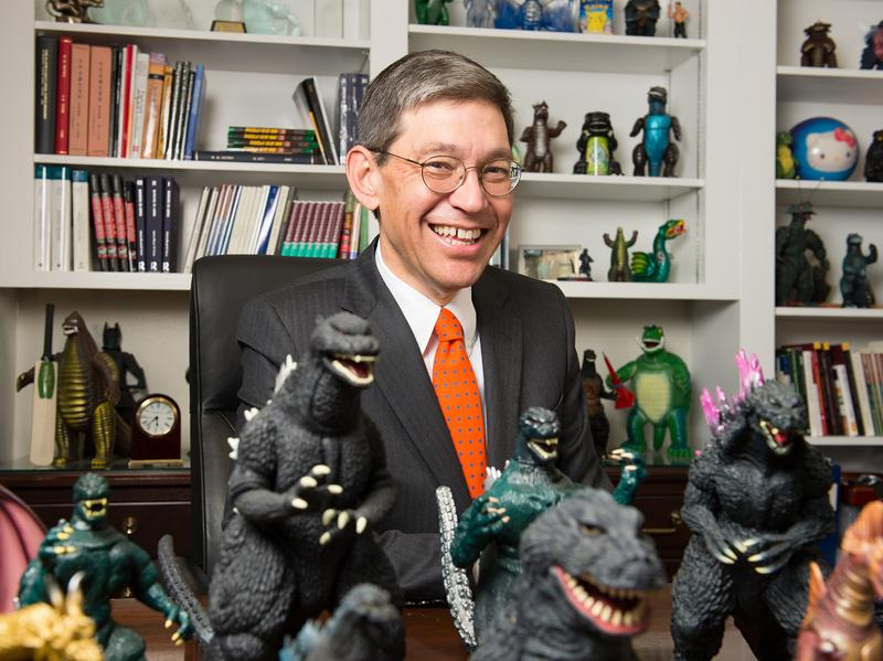 For William Tsutsui, incoming president of Hendrix College and author of <em>Godzilla On My Mind</em>, the iconic lizard is an obsession and an inspiration.