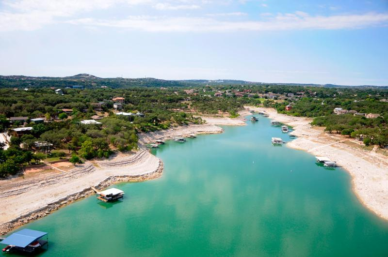 Water levels have dropped at Lake Travis because the drought, May 16, 2011. (Lower Colorado River Authority)