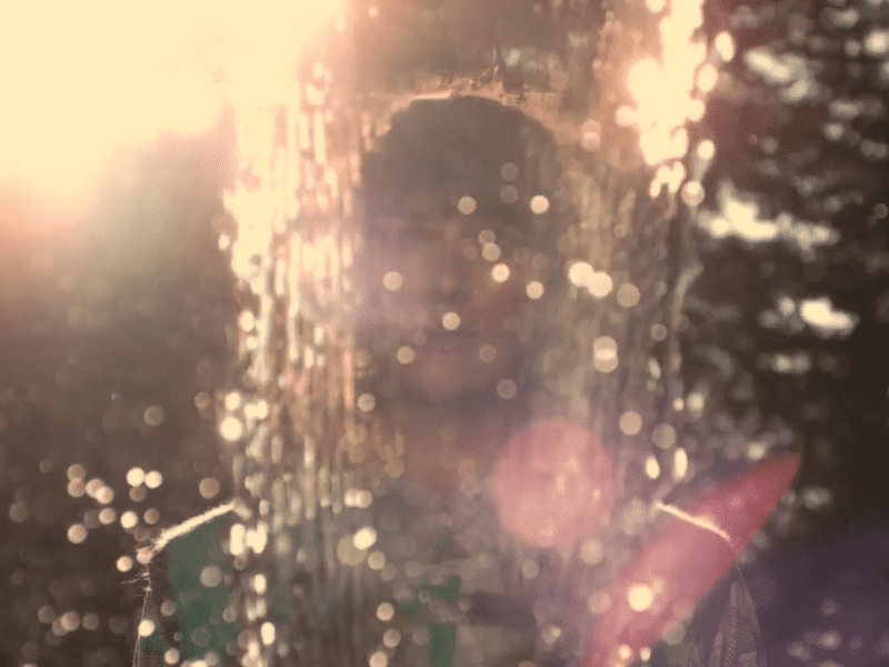 "Musician Christina Vantzou, in a scene from her new video for the song ""Strange Symptoms."""