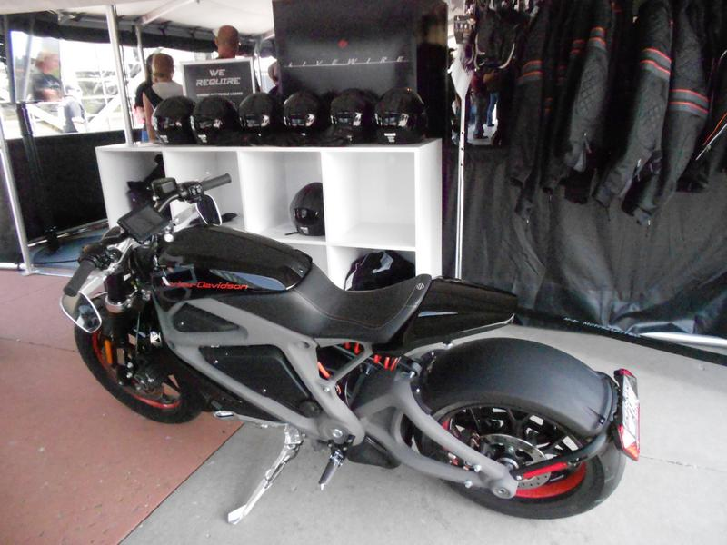 "Harley Davidson's ""Livewire,"" the company's foray into the electric motorcycle market. (Latoya Dennis)"
