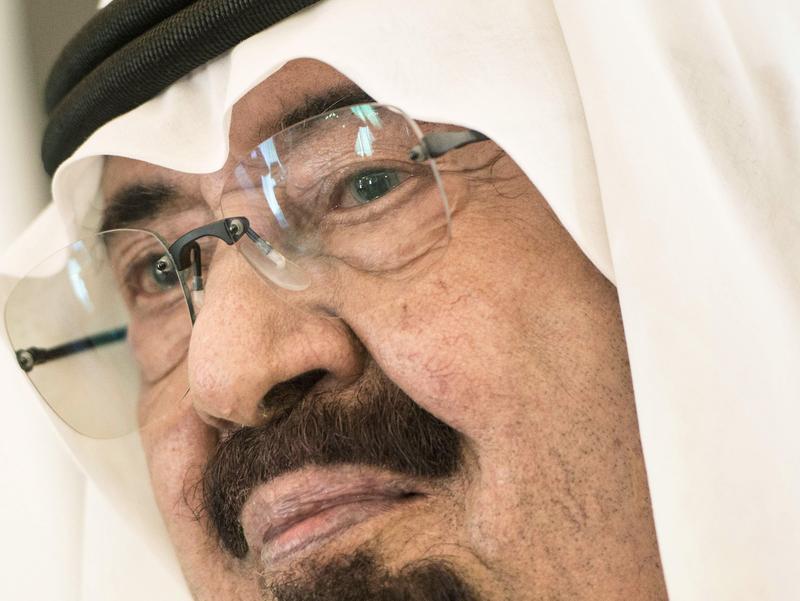 Saudi King Abdullah bin Abdulaziz al-Saud met with U.S. Secretary of State John Kerry in Jeddah last month. Saudi Arabia has reportedly moved 30,000 troops to its border with Iraq.