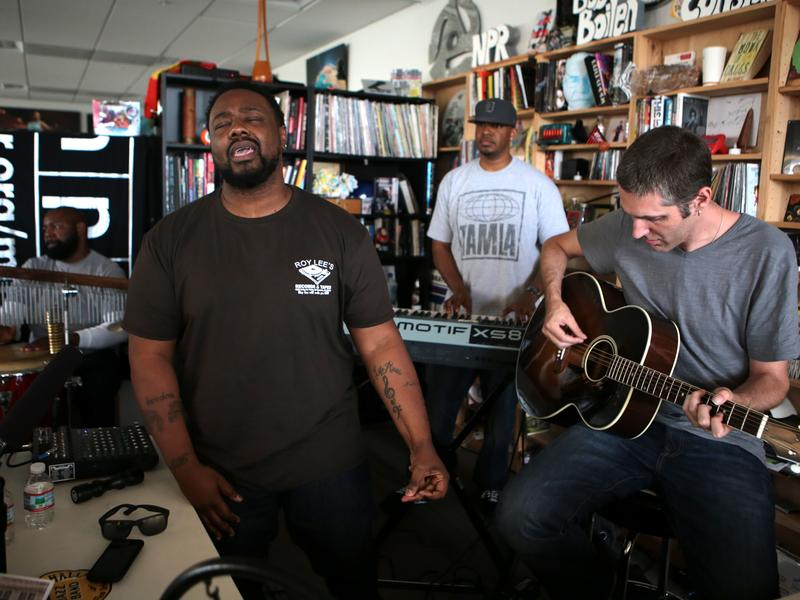 The Foreign Exchange performs at the Tiny Desk in May 2014.