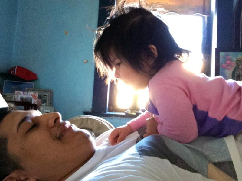 "Marvin Ramos, now 18, was overwhelmed when his daughter, Hailey, was born. But now he says he's determined to be the best father he can be. ""I haven't run away,"" he says, ""and I never want to."""