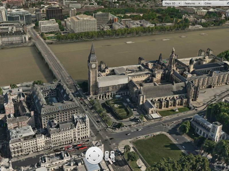 A 3-D map of London by Nokia's mapping division, called Here.